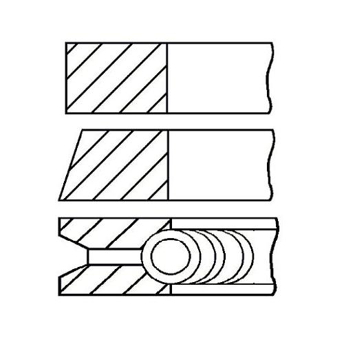 Piston Ring Kit GOETZE ENGINE 08-101300-00 VAG