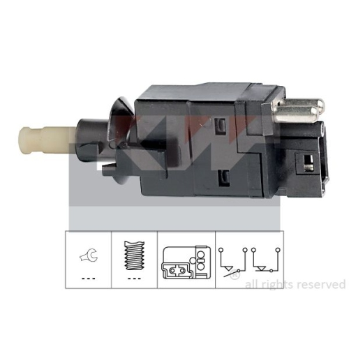 Brake Light Switch KW 510 088 Made in Italy - OE Equivalent CHRYSLER SSANGYONG