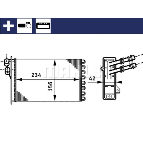 Wärmetauscher, Innenraumheizung MAHLE AH 72 000S AUDI VAG CUPRA