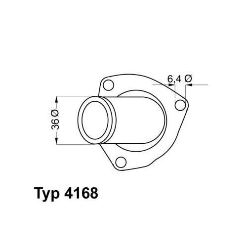 Thermostat, coolant BorgWarner (Wahler) 4168.92D OPEL VAUXHALL GENERAL MOTORS