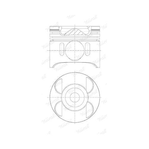 Piston NÜRAL 87-136400-00