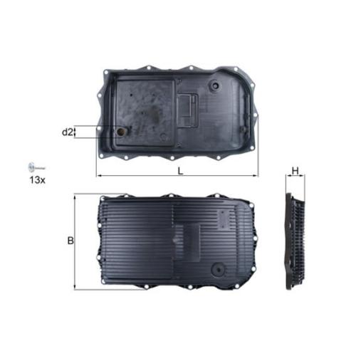 Ölwanne, Automatikgetriebe MAHLE HX 184 KIT BMW LAND ROVER