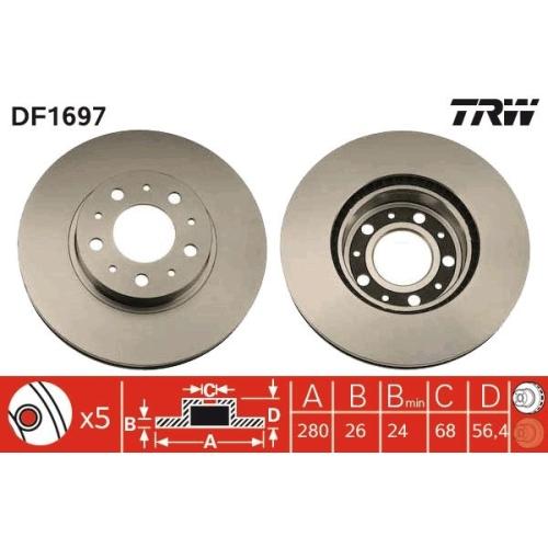 TRW Brake Disc DF1697