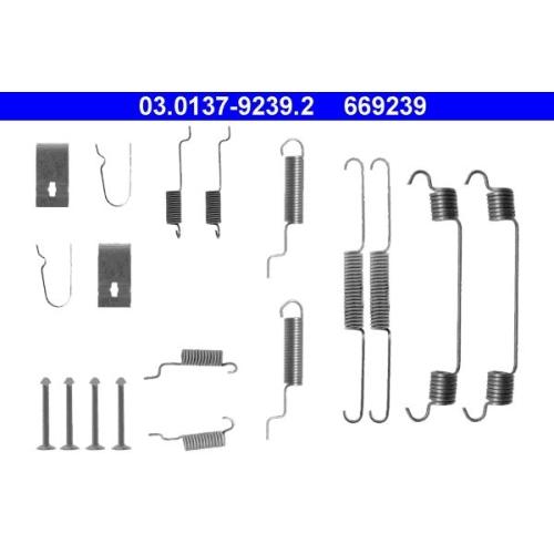 Zubehörsatz, Bremsbacken ATE 03.0137-9239.2 MAZDA