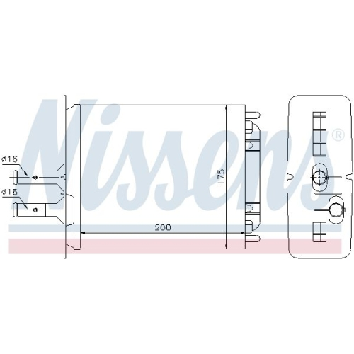 Heat Exchanger, interior heating NISSENS 71439 FIAT LANCIA