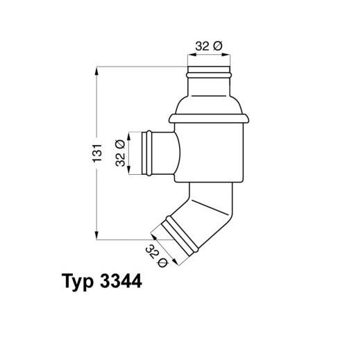 Thermostat, coolant BorgWarner (Wahler) 3344.75 BMW