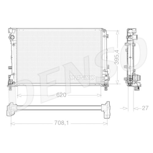 Kühler, Motorkühlung DENSO DRM09163 FIAT