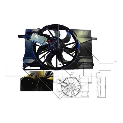 Lüfter, Motorkühlung NRF 47412 VOLVO