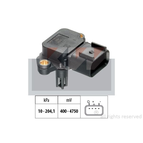 Air Pressure Sensor, height adaptation KW 493 212 Made in Italy - OE Equivalent