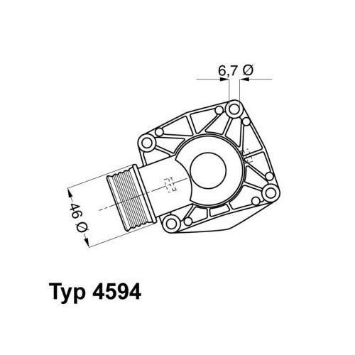 Thermostat, coolant BorgWarner (Wahler) 4594.90D BMW