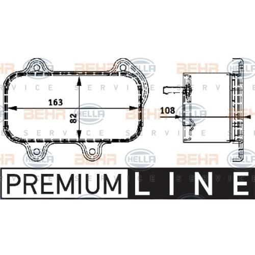 Ölkühler, Motoröl HELLA 8MO 376 726-111 BEHR HELLA SERVICE *** PREMIUM LINE ***