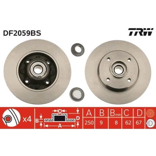 TRW Bremsscheibe DF2059BS