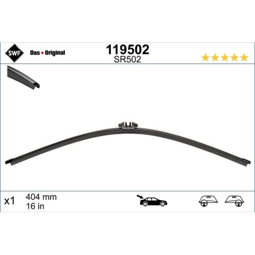 Wiper Blade SWF 119502 ORIGINAL VISIOFLEX REAR SKODA VW VW (SVW)