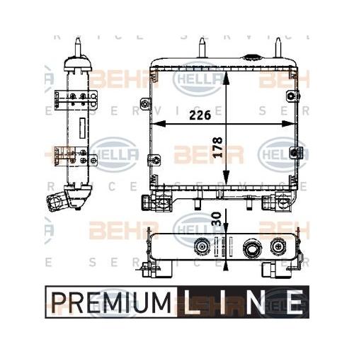 Ölkühler, Motoröl HELLA 8MO 376 725-281 BEHR HELLA SERVICE *** PREMIUM LINE ***