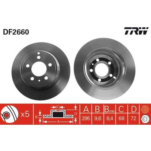 TRW Brake Disc DF2660