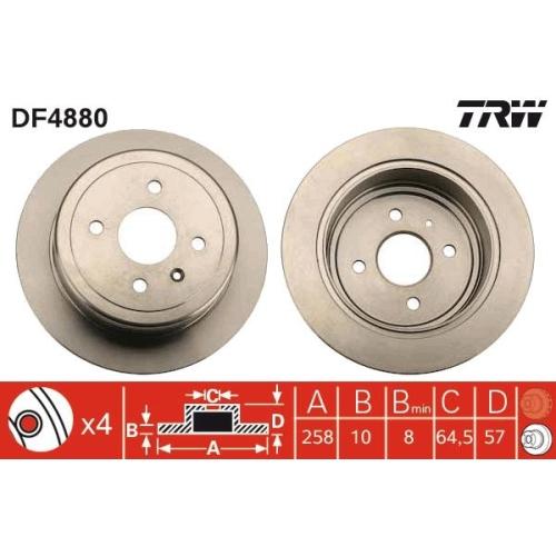 Brake Disc TRW DF4880 CHEVROLET DAEWOO