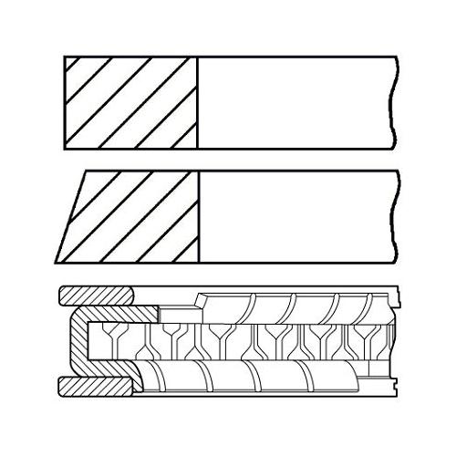Piston Ring Kit GOETZE ENGINE 08-442700-00 NISSAN