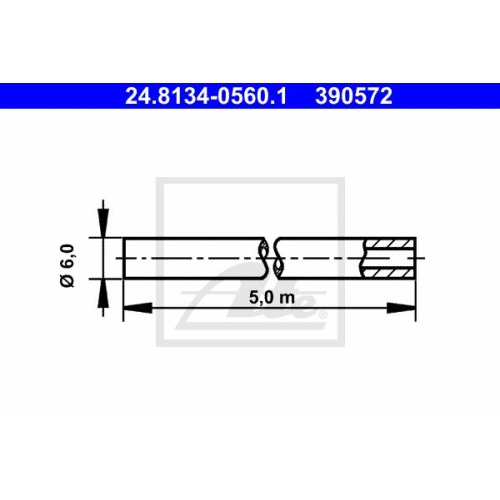 Bremsleitung ATE 24.8134-0560.1
