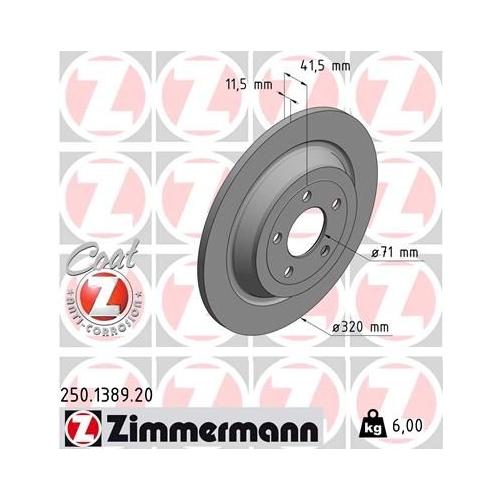 ZIMMERMANN Brake Disc 250.1389.20