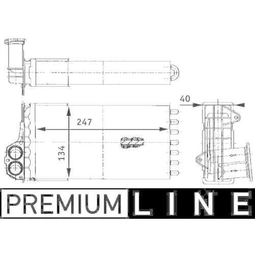 Wärmetauscher, Innenraumheizung MAHLE AH 88 000P BEHR *** PREMIUM LINE ***