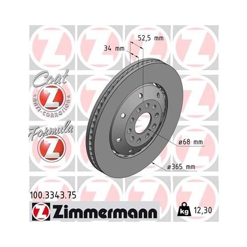 ZIMMERMANN Brake Disc 100.3343.75
