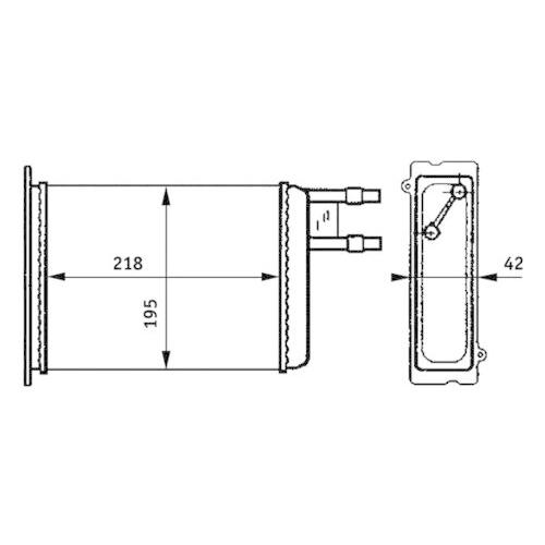 Heat Exchanger, interior heating MAHLE AH 147 000S CITROËN FIAT PEUGEOT
