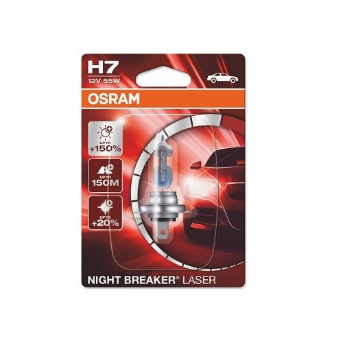 Incandescent lightbulb OSRAM H7 55W / 12V Socket Version: PX26d (64210NL-01B)