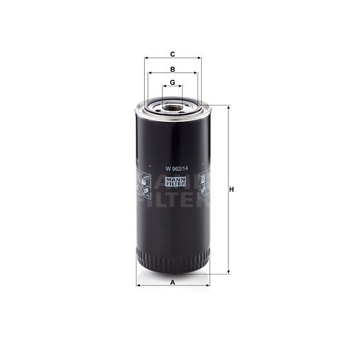 Filter, operating hydraulics MANN-FILTER W 962/14 STEINBOCK FLOTTMANN WERKE