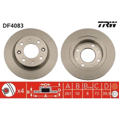 TRW Brake Disc DF4083