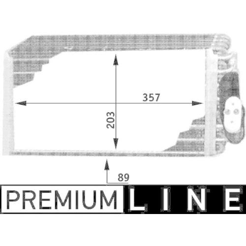 Evaporator, air conditioning MAHLE AE 42 000P BEHR *** PREMIUM LINE ***