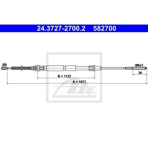 ATE Cable, parking brake 24.3727-2700.2