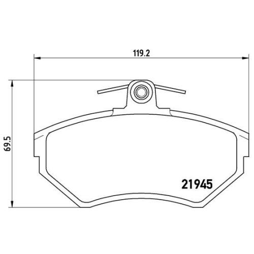 BREMBO Brake Pad Set, disc brake P 85 032