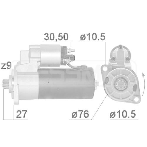 Starter ERA 220053A VW