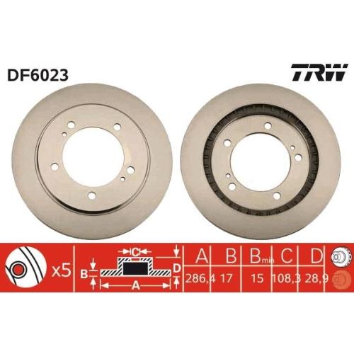 Brake Disc TRW DF6023 SUZUKI