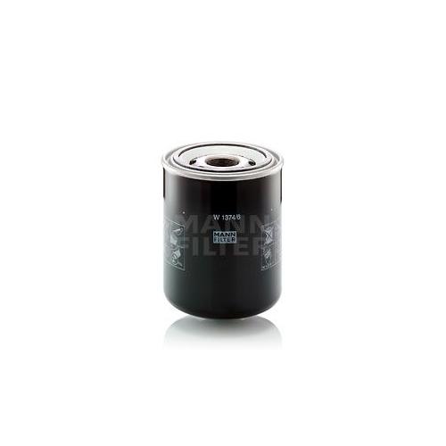 Filter, operating hydraulics MANN-FILTER W 1374/6 DEUTZ-FAHR
