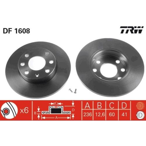 Brake Disc TRW DF1608 BEDFORD OPEL VAUXHALL CHEVROLET PONTIAC