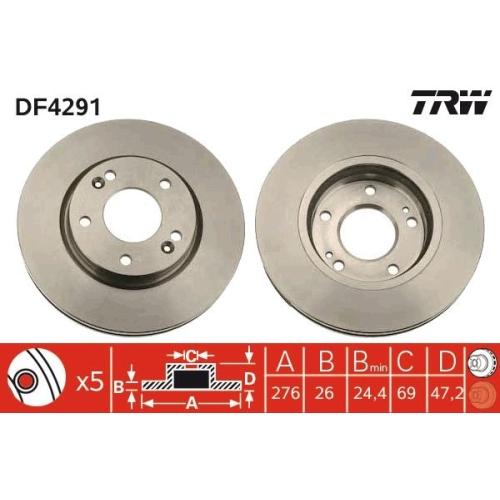 TRW Bremsscheibe DF4291