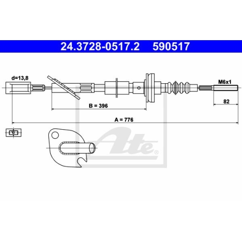 ATE Clutch Cable 24.3728-0517.2