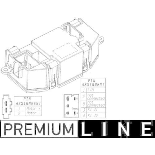 Regulator, passenger compartment fan MAHLE ABR 56 000P BEHR *** PREMIUM LINE ***