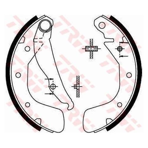 Brake Shoe Set TRW GS8543 OPEL VAUXHALL CHEVROLET DAEWOO