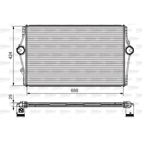 Intercooler, charger VALEO 818283 VOLVO