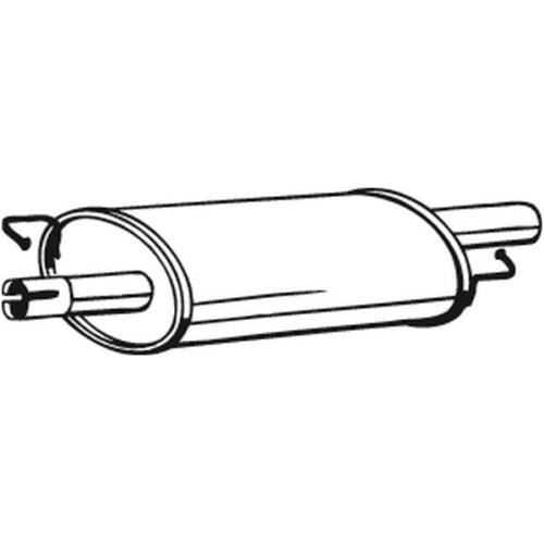 Mittelschalldämpfer BOSAL 233-577 VW