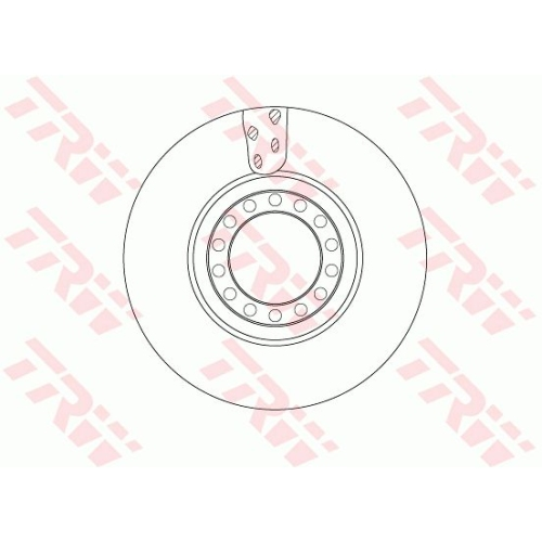 Brake Disc TRW DF5077S IVECO
