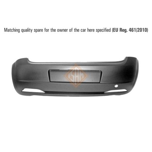 ISAM 0103121 Stoßfänger Stoßstange hinten für Fiat Grande Punto