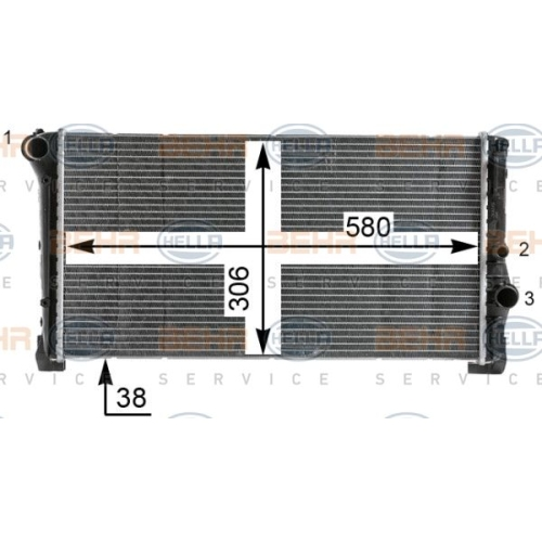 HELLA Radiator, engine cooling 8MK 376 900-264