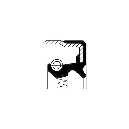 CORTECO Shaft Seal, wheel hub 01019205B
