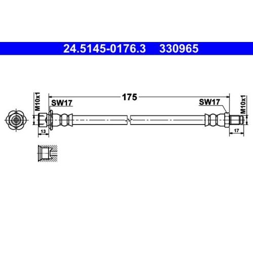 Brake Hose ATE 24.5145-0176.3 TOYOTA