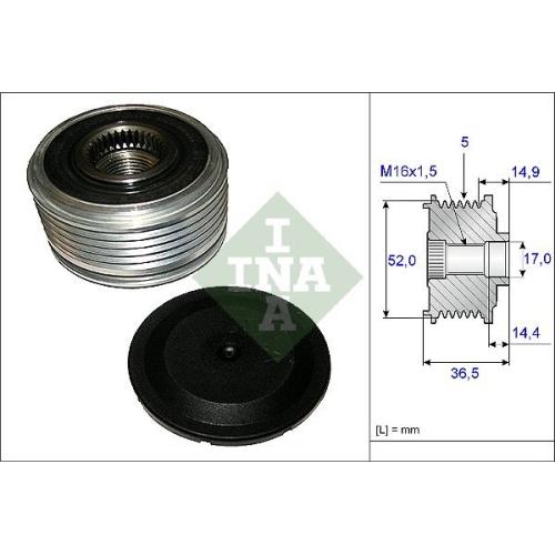 Alternator Freewheel Clutch INA 535 0129 10 MERCEDES-BENZ