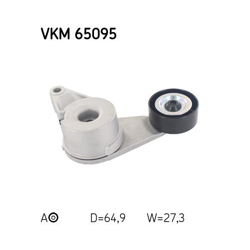 Spannrolle, Keilrippenriemen SKF VKM 65095 HYUNDAI KIA