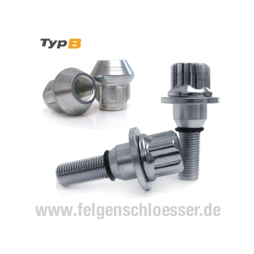 SCC Fahrzeugtechnik FELGENSCHLOSSSATZ FBL-1252. Artikel Nr.:FBL-1252